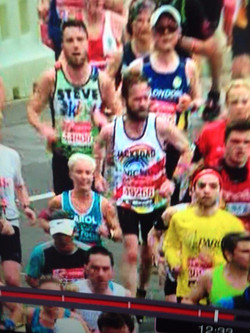 Ian Cox London Marathon run