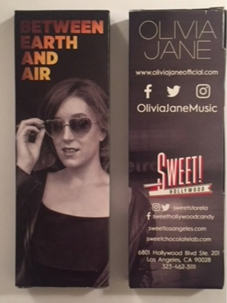 Olivia Jane DARK Chocolate Bar - By Sweet Hollywood