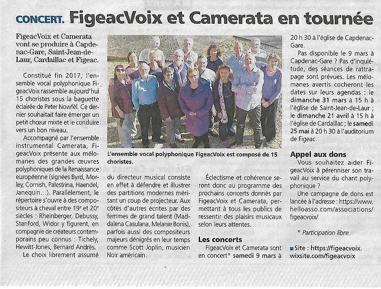 FigeacVOix et Camérata en tournée