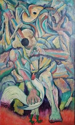 Raul Deodato Arellano, SELF-PORTRAIT, oil on canvas, 60 x 36 inches, 2021.jpg