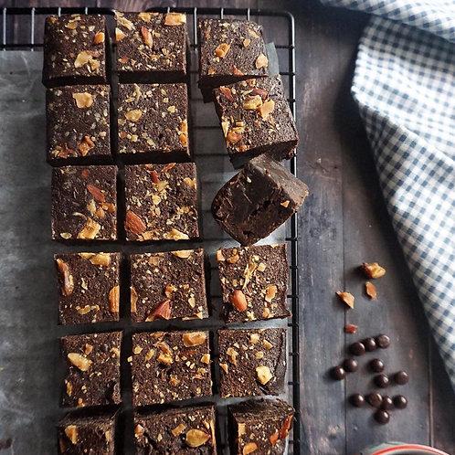 2D MART Fluffy Almond Brownies