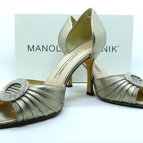 MANOLO BLAHNIK Peep Toe