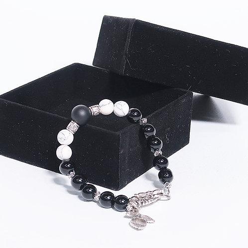 VIEBY COLLECTION Black Onyx Howlite Bracelet