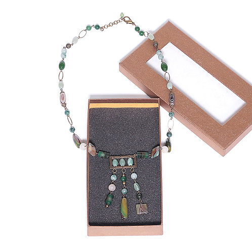 VIEBY COLLECTION Agate Stones Mix Necklace