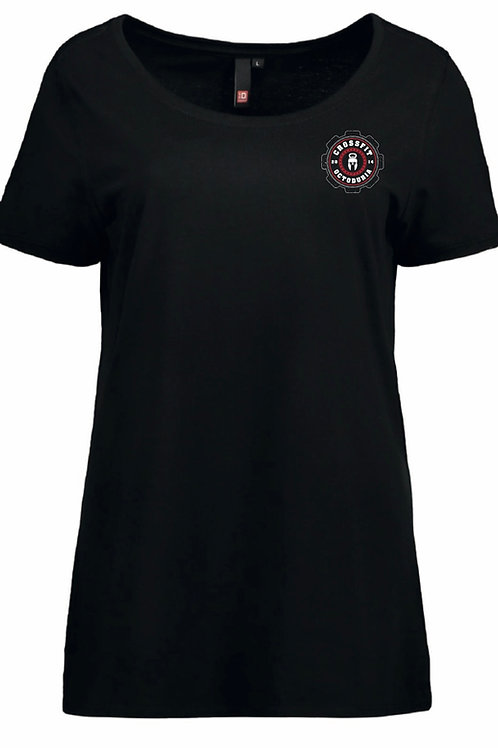 T-Shirt Femme Noir vue de face - CrossFit Octoduria