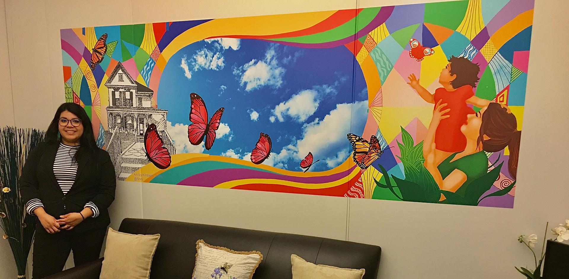 """ Mariposa"" mural for Santa Ana PD"