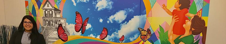 """ Mariposa"" mural for Santa Ana PD"