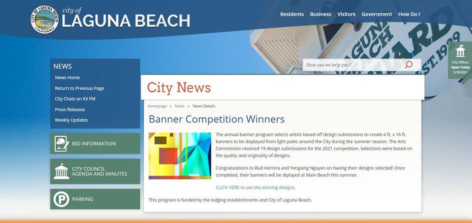 Laguna Beach Banner 2020