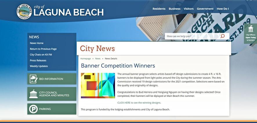 Laguna Beach Banner competition