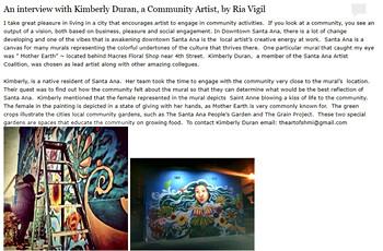 Community Artist Interview