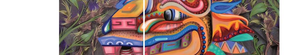 """Creator,Quetzalocatl"" mural"