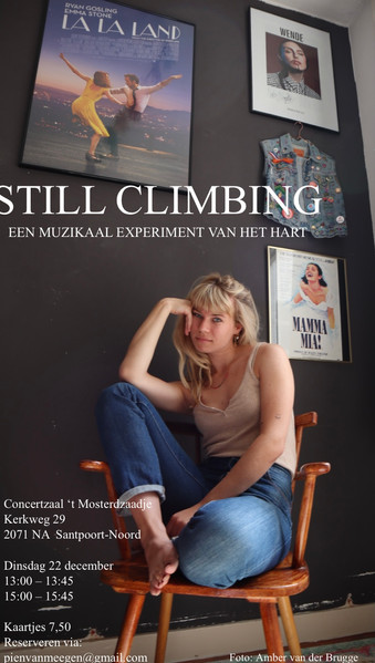 Concert poster of my concert 'STILL CLIMBING'. (2020)