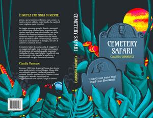 Cemetery illustration jungle leaves digital illustration