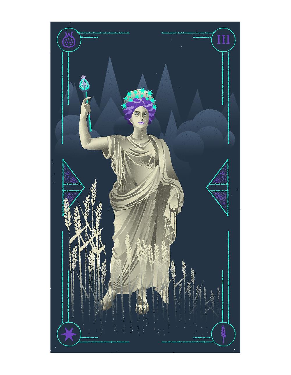 the empress card tarot illustrated tarot italian tarot illustrated major arcana alexandra wong illustration