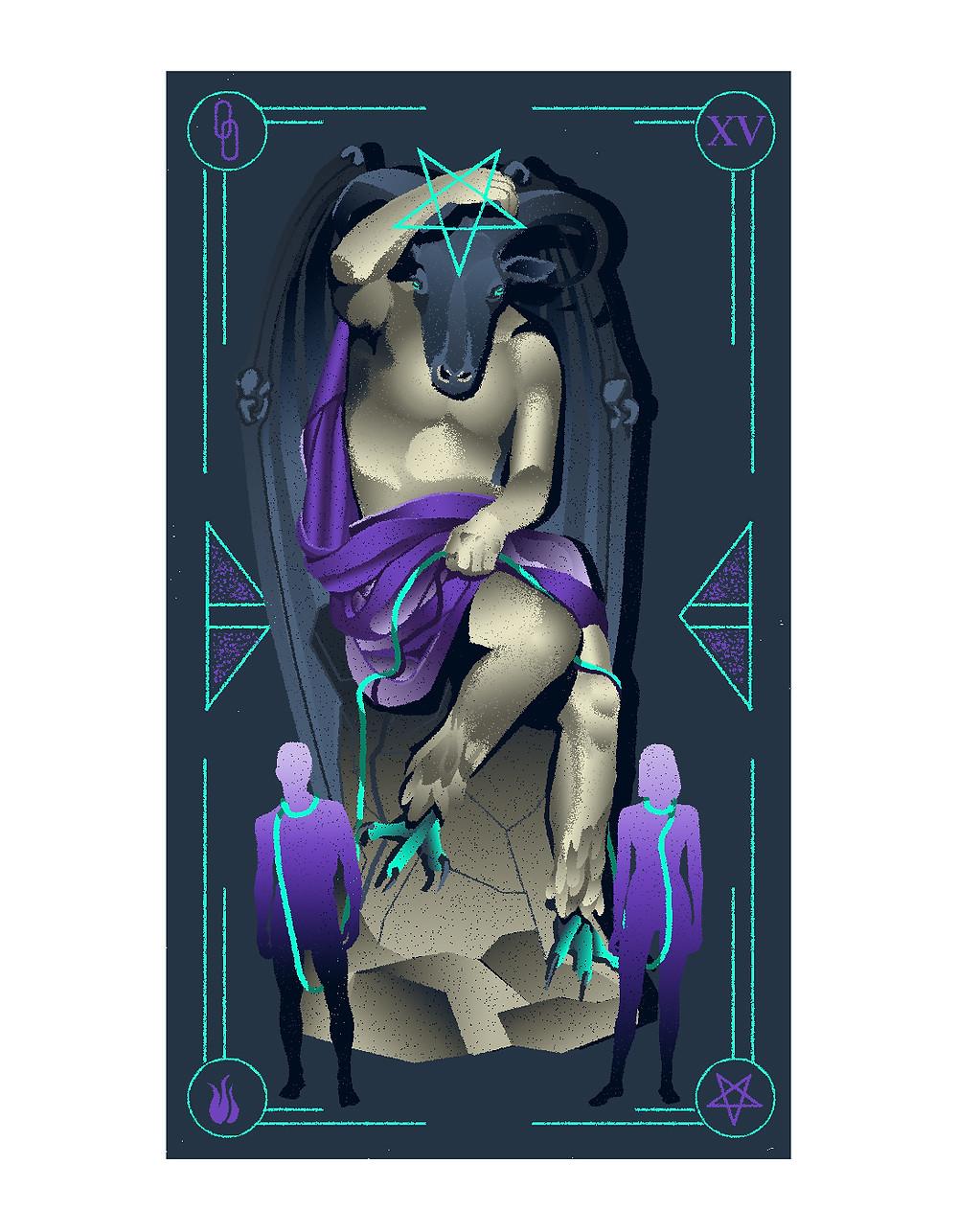 the devil card illustrated tarot italian tarot illustrated major arcana alexandra wong illustration