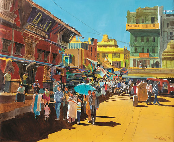 OKS 349 18 New Road, Nepal 100 x 120 cm