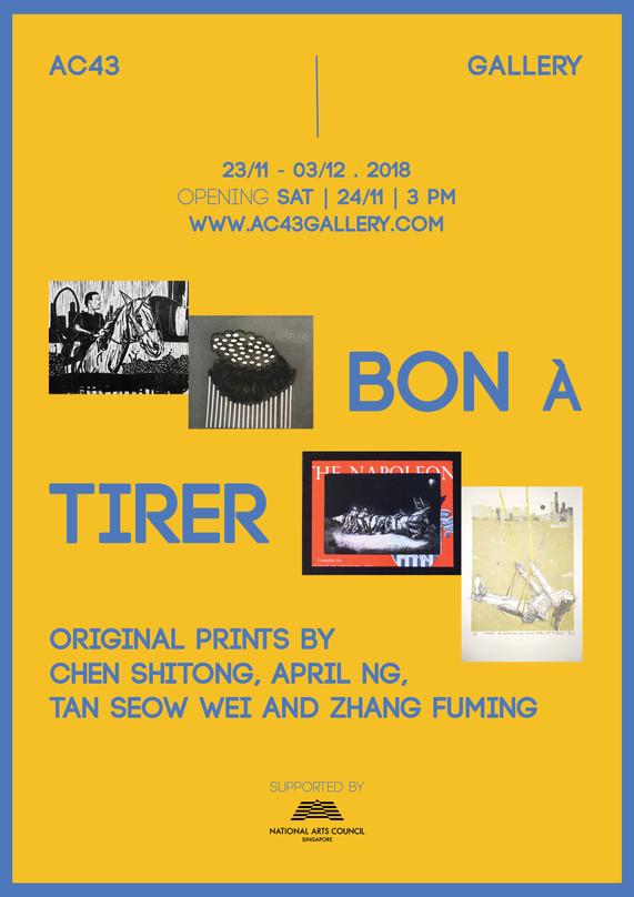 BON á TIRER: Original Prints by Chen Shitong, April Ng, Tan Seow Wei and Zhang Fuming