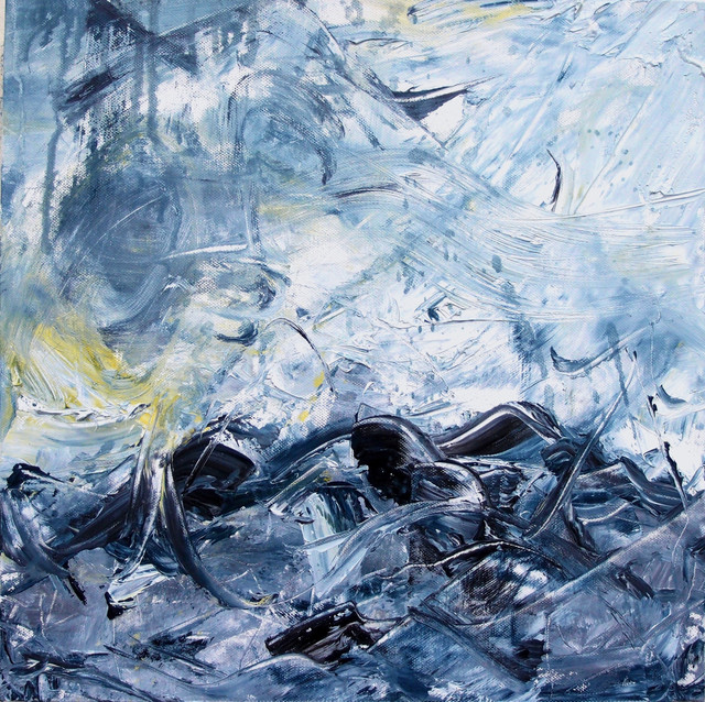Untitled (Blue and White)