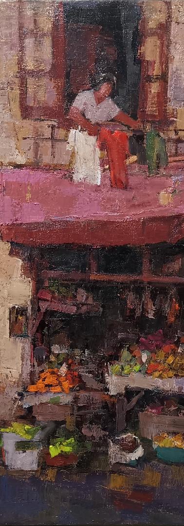Tan Choh Tee Shanghai Old Street, 2019, 60.5 x 72.5 cm, oil on canvas