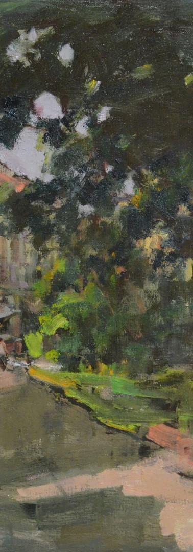 Tan Choh Tee Duxton Hill, 2016, 60.5 x 72.5 cm, oil on canvas