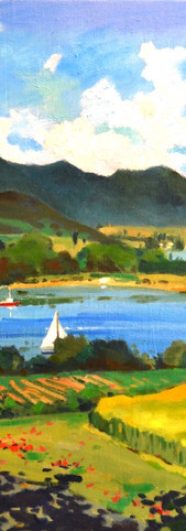 Ho Sou Ping Lake Constance, Radolfzell, 2018, 60 x 80 cm, oil on canvas