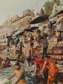 Morning Bath in the Ganges