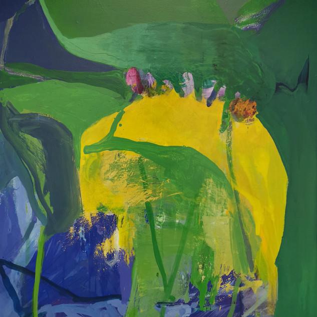 Green Leaf 80 x 100 cm Acrylic on can