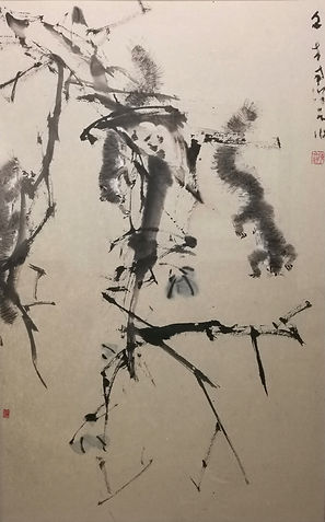 CWH 186 Squirrels 68 x 43 cm Chinese ink