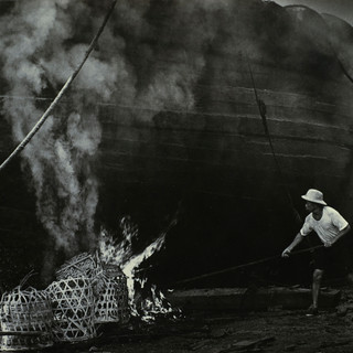 Burning Boat Hull
