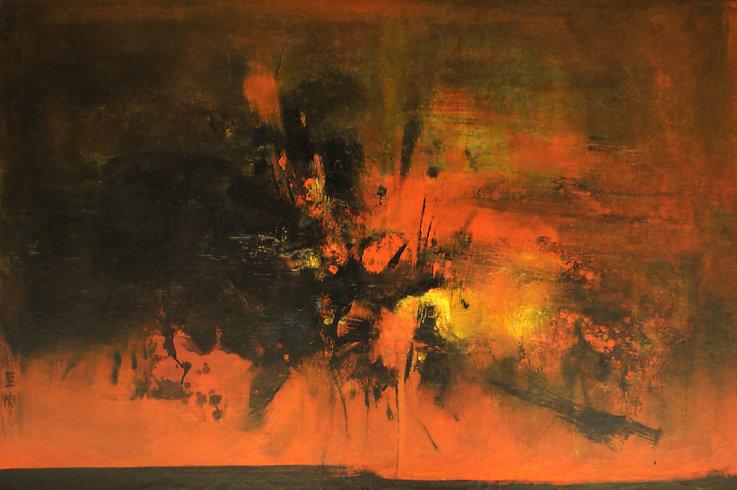 CSP 366 65 Landscape no. 3 Oil on canvas