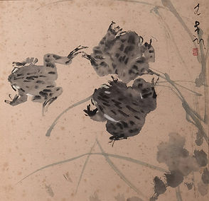 CWH 189 Undated Frogs 34 x 34 cm Chinese