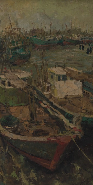 Tong Ching Sye South China Sea, 1992, 88 x 64 cm, mixed media on canvas