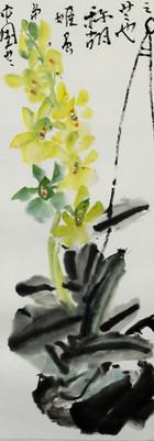 胡姬花 orchid before 2006 34x68.jpg