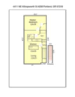 4411 NE Killingsworth St #208 Floor Plan