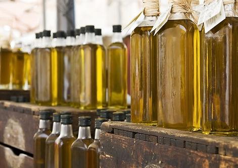 Lahve olivovém oleji