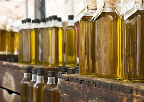Garrafas de azeite de oliva
