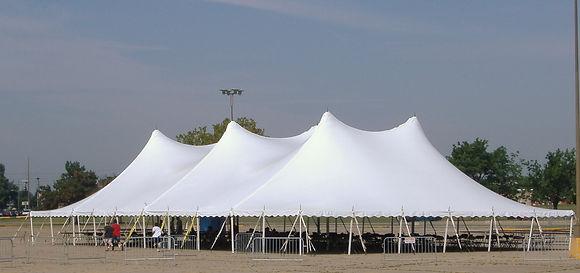 60 x 100 White Pole Tent