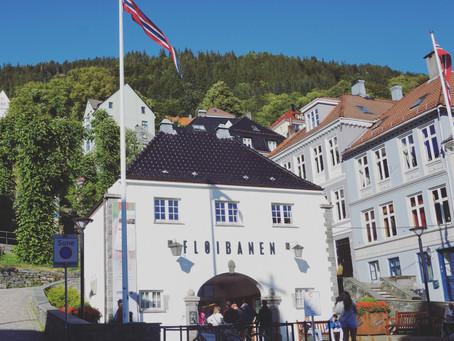 Fløibanen Funicular. Bergen, Norway.