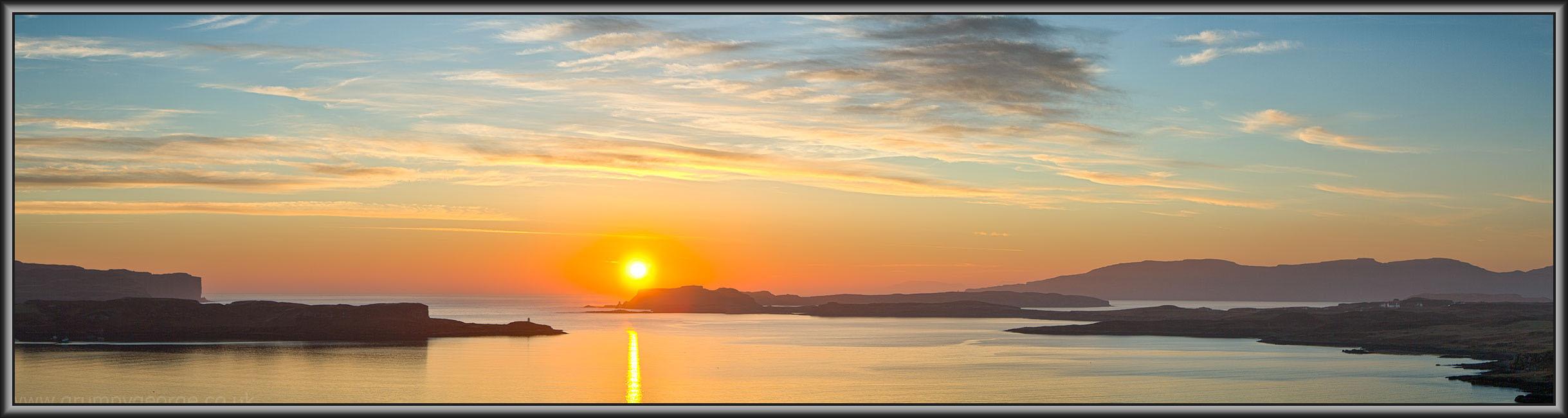 Brackadale sunset Skye 44