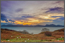 Winter sunrise sheep south Skye 18
