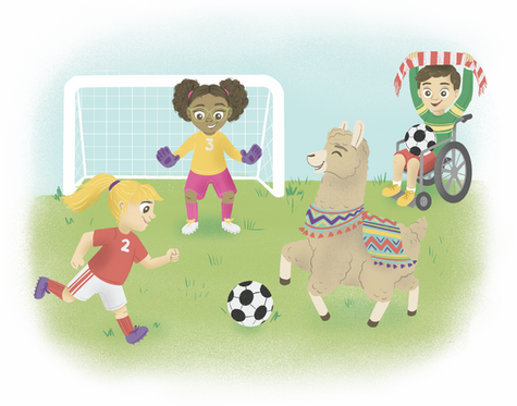 Step Up Learning Spot Illustration: Playing Together