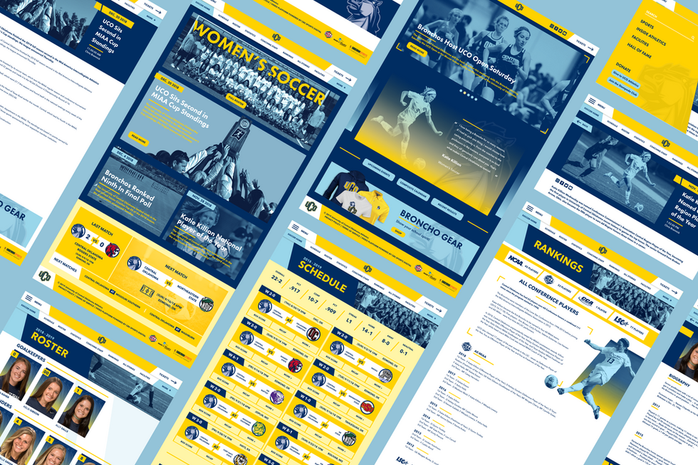 UCO Athletics Website Concept