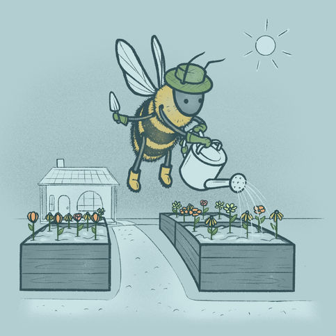 Animal Professions: Gardener Bee