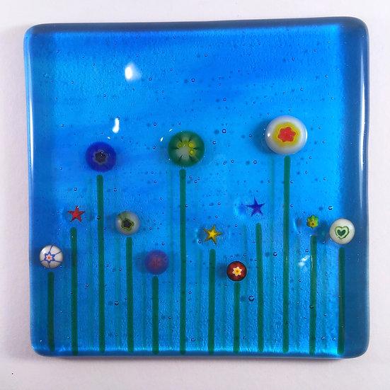 Summer flowers coaster