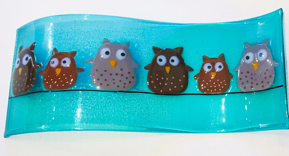 Owls on a wire wave mould