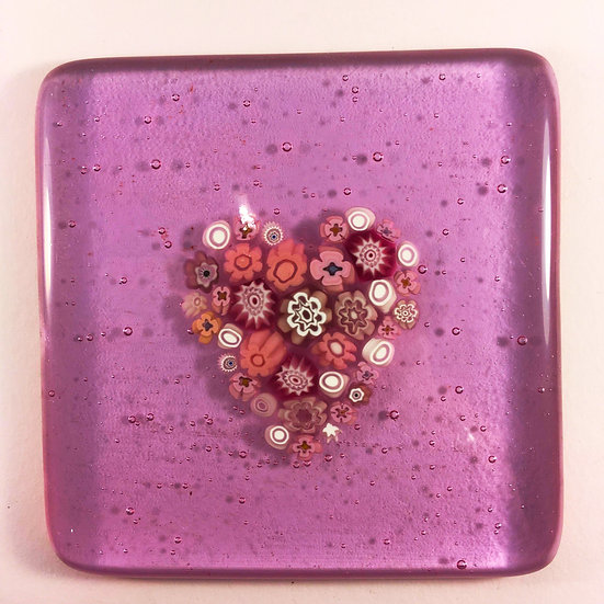 Mille fiore pink coaster