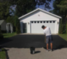 Had fun re-coating this driveway today!.