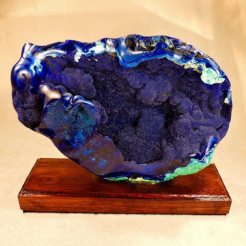 Azurite Druzy Vug from Bisbee, Arizona