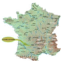 carte, le bois de barthes, locations de charme en Occitanie