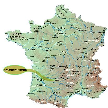 carte, le bois de barthes, locations de charme en Occitanie